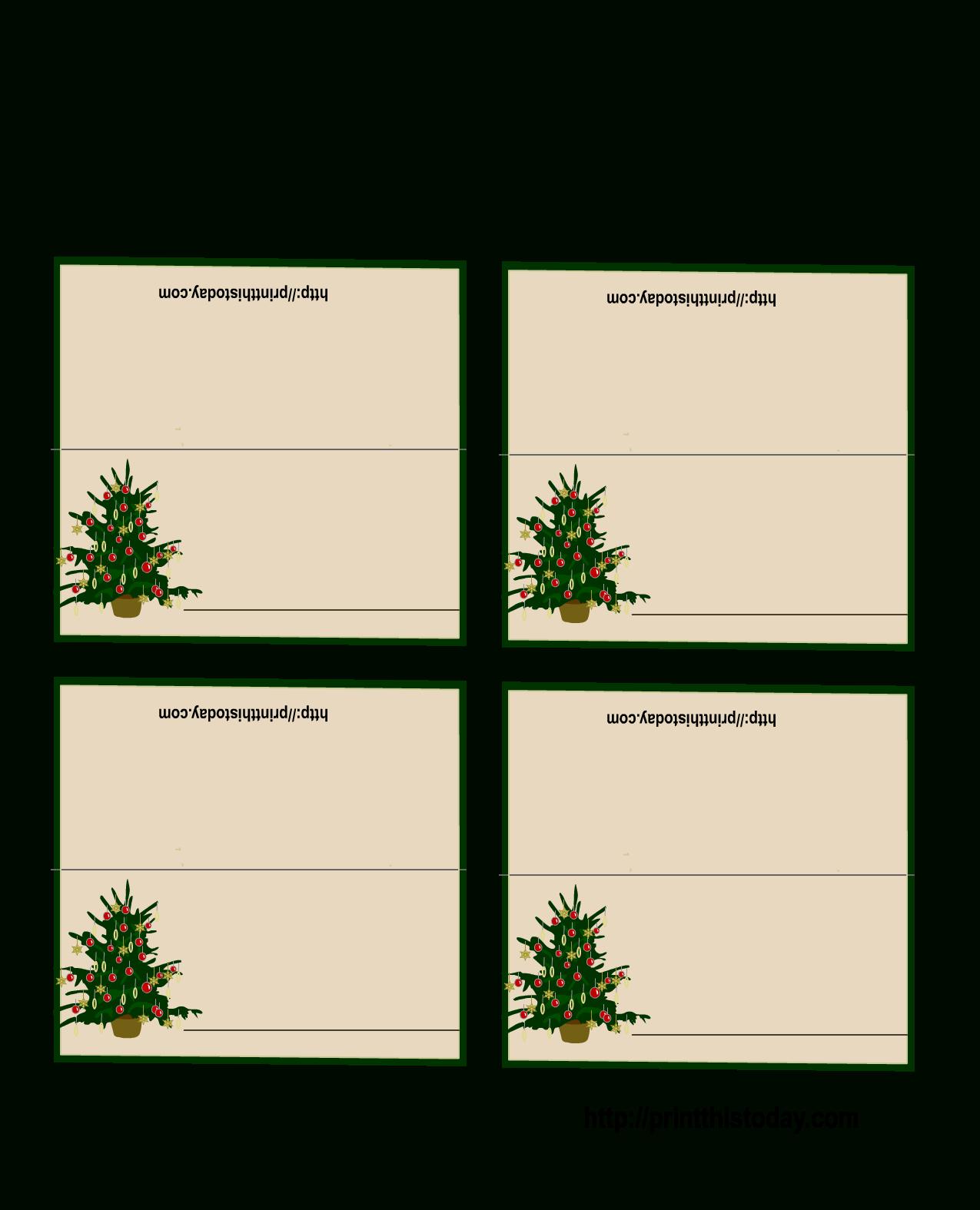 Free Printable Christmas Tree Place Cards   *+* Free Holiday - Free Printable Christmas Tent Cards