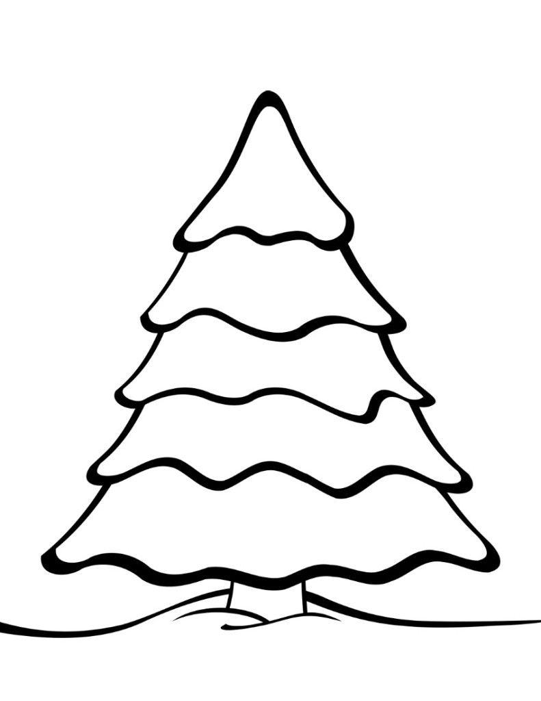 Free Printable Christmas Tree Templates   Christmas   Colorful - Free Printable Christmas Tree Template