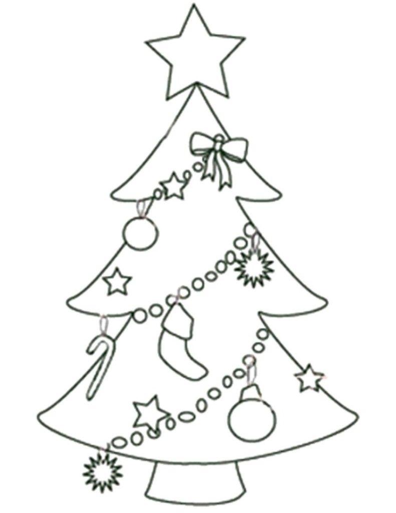 Free Printable Christmas Tree Templates   Free Printable Coloring - Free Printable Christmas Ornaments Stencils