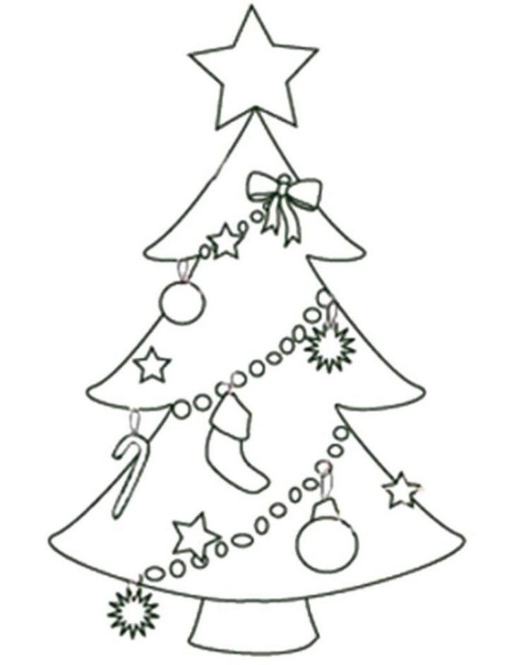 Free Printable Christmas Tree Ornaments Coloring Pages