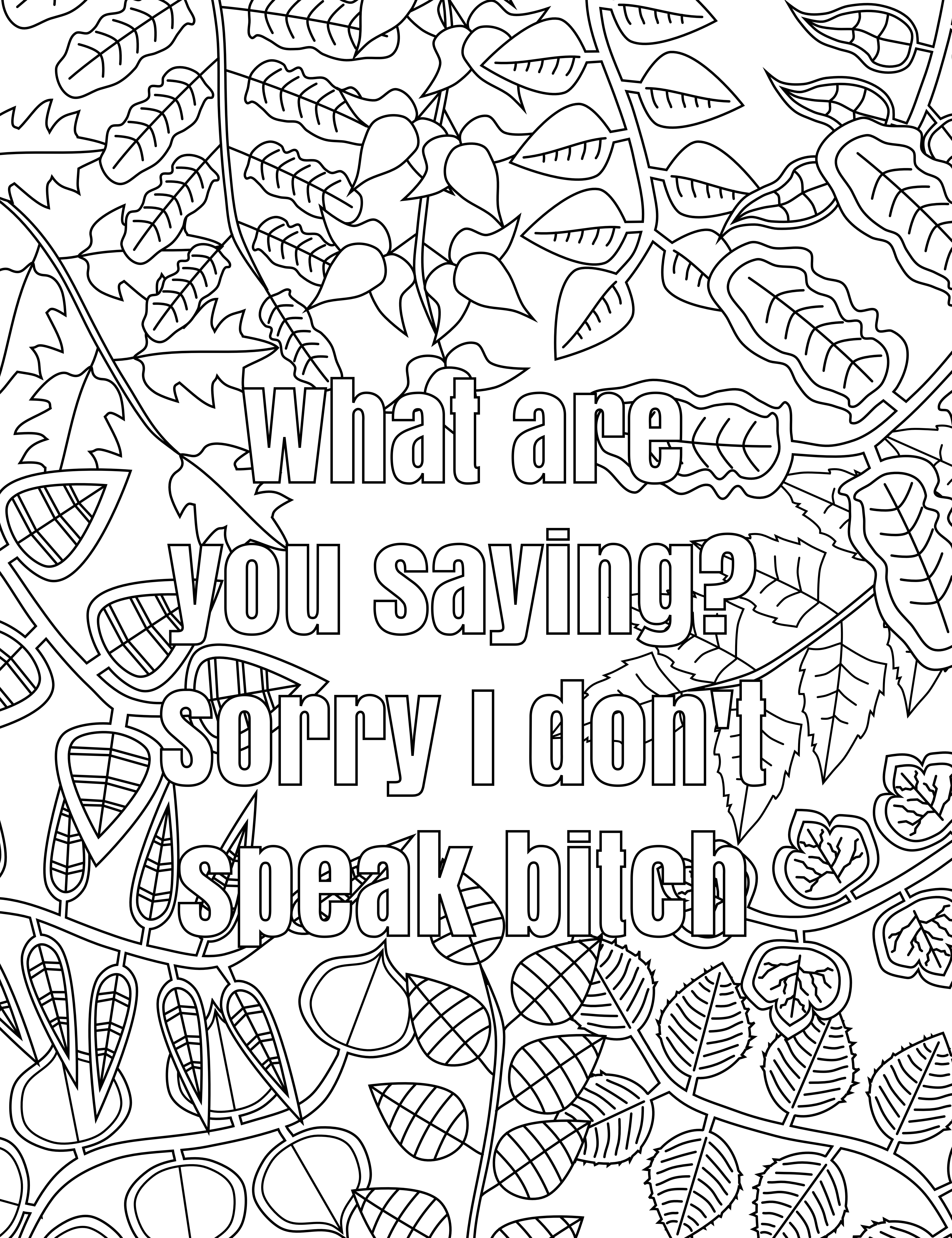 Free Printable Coloring Pages For Adults Only Swear Words Download - Free Printable Swear Word Coloring Pages