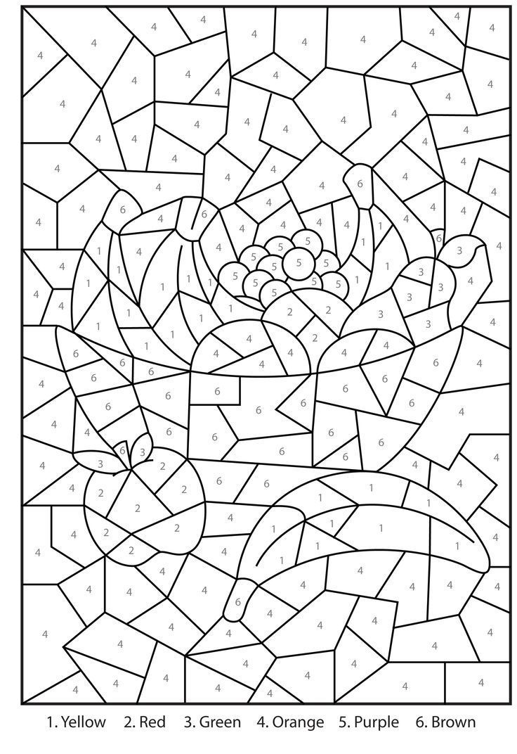 Free Printable Colornumber Coloring Pages For Adults | Color - Free Printable Color By Number For Adults