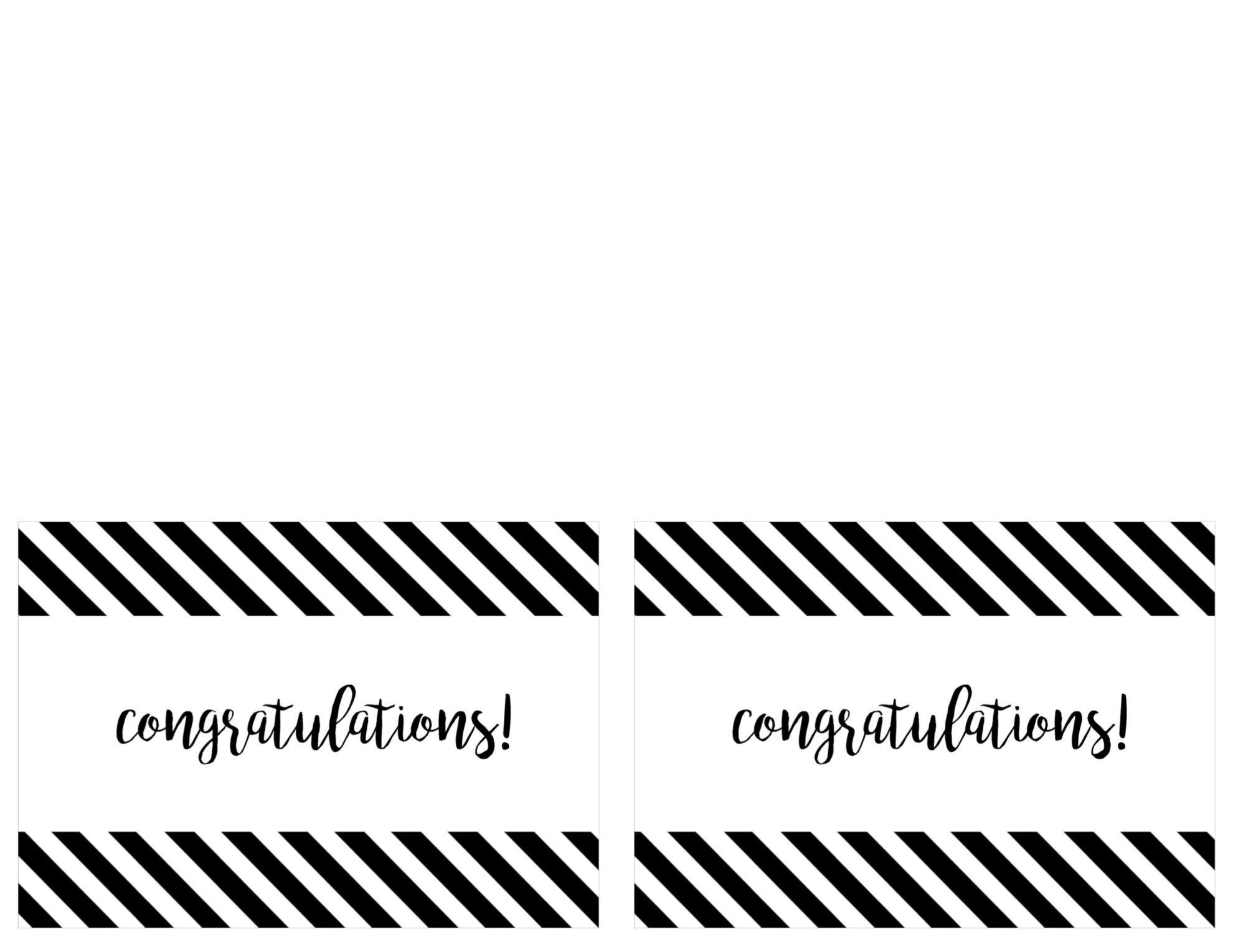 Free Printable Congratulations Card - Paper Trail Design - Free Printable Congratulations Cards