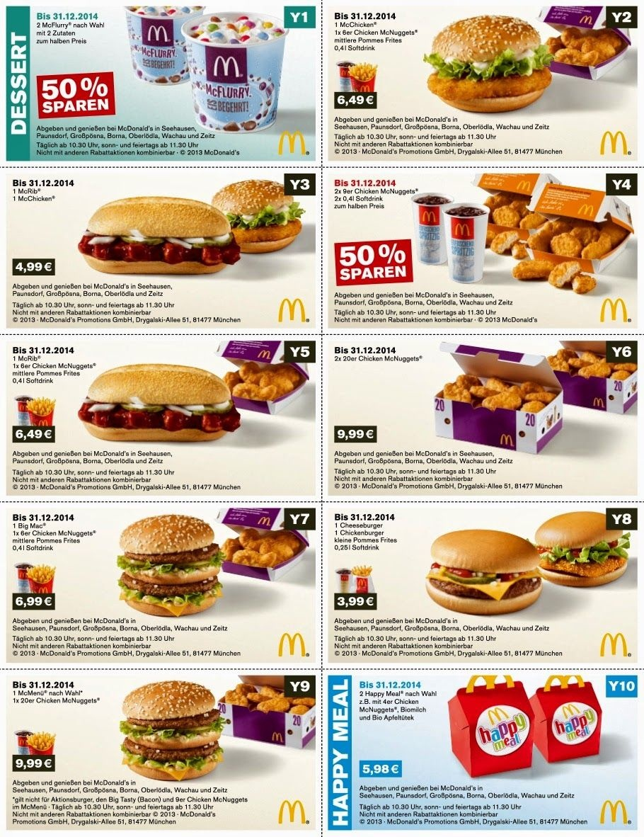 Free Printable Coupons: Mcdonalds Coupons   Fast Food Coupons - Free Printable Mcdonalds Coupons Online