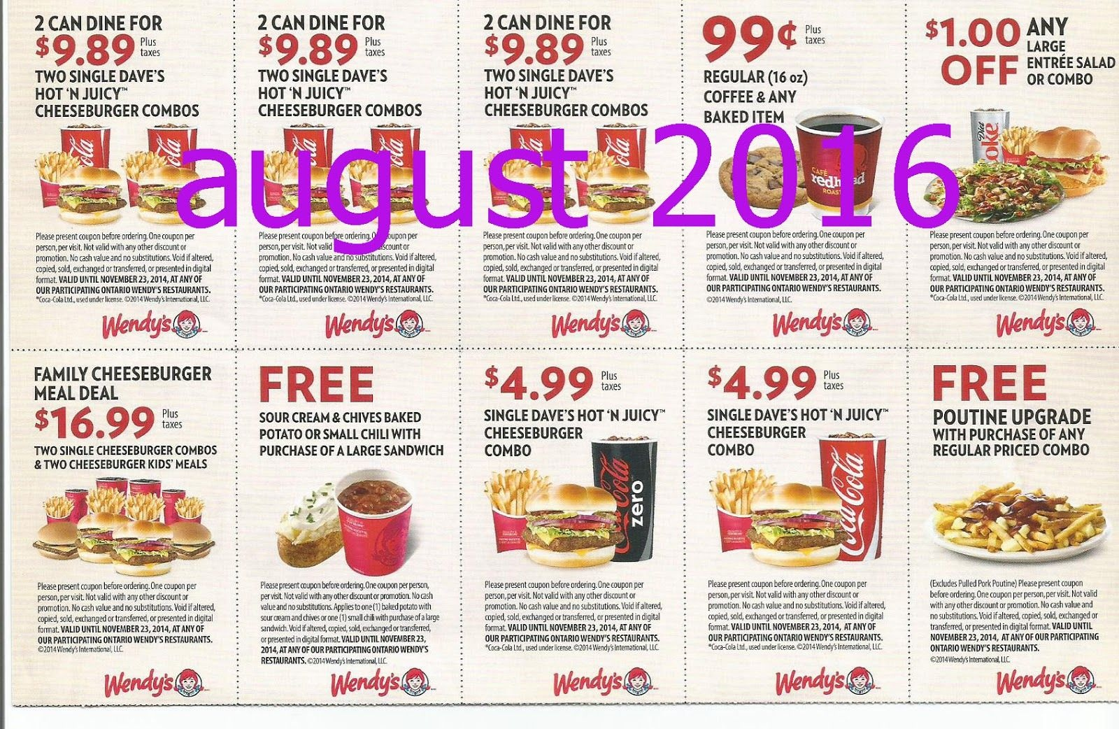Free Printable Coupons: Wendys Coupons | Fast Food Coupons | Wendys - Free Printable Coupons 2014