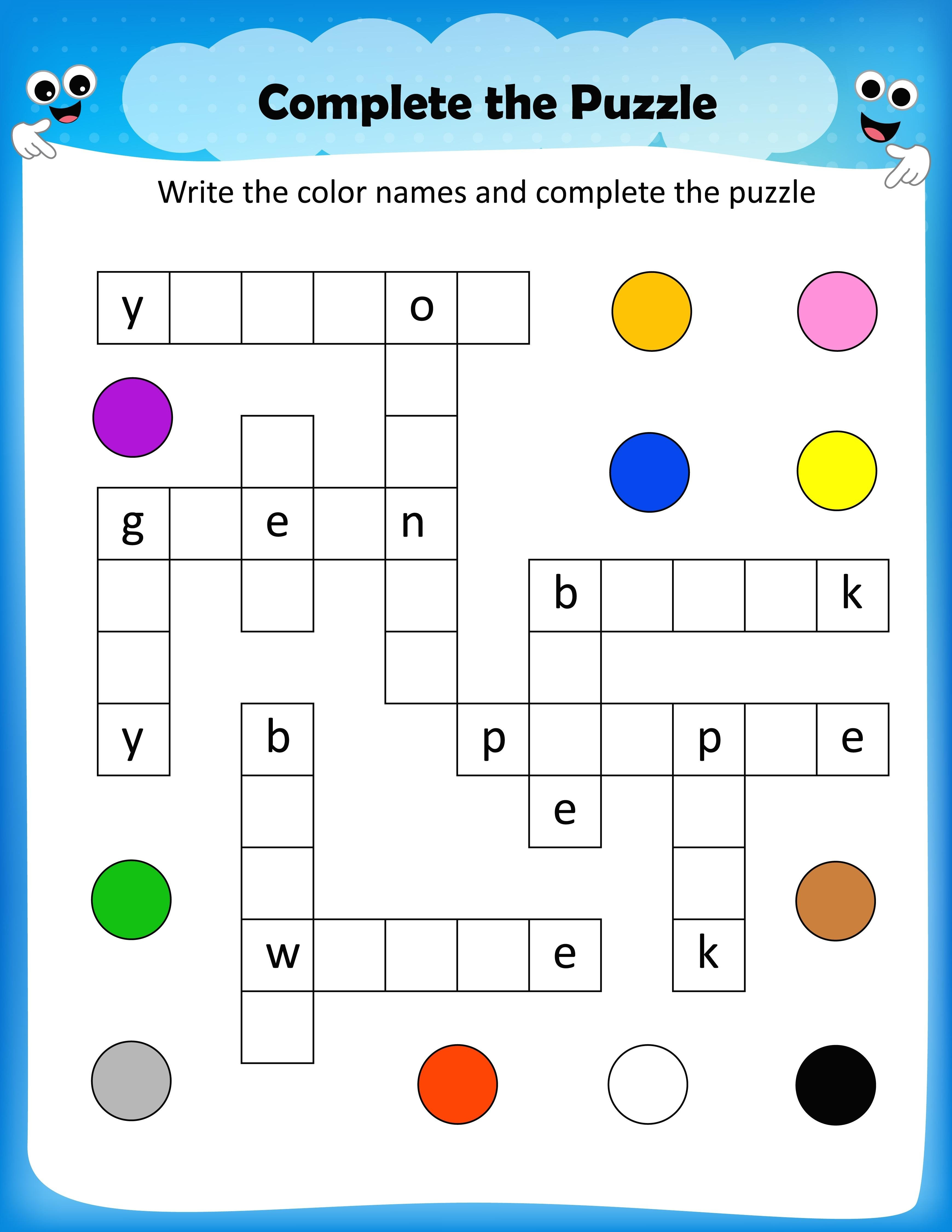 Free Printable Crossword Puzzles For Kids Free Printable Crosswords - Free Printable Puzzles For Kids