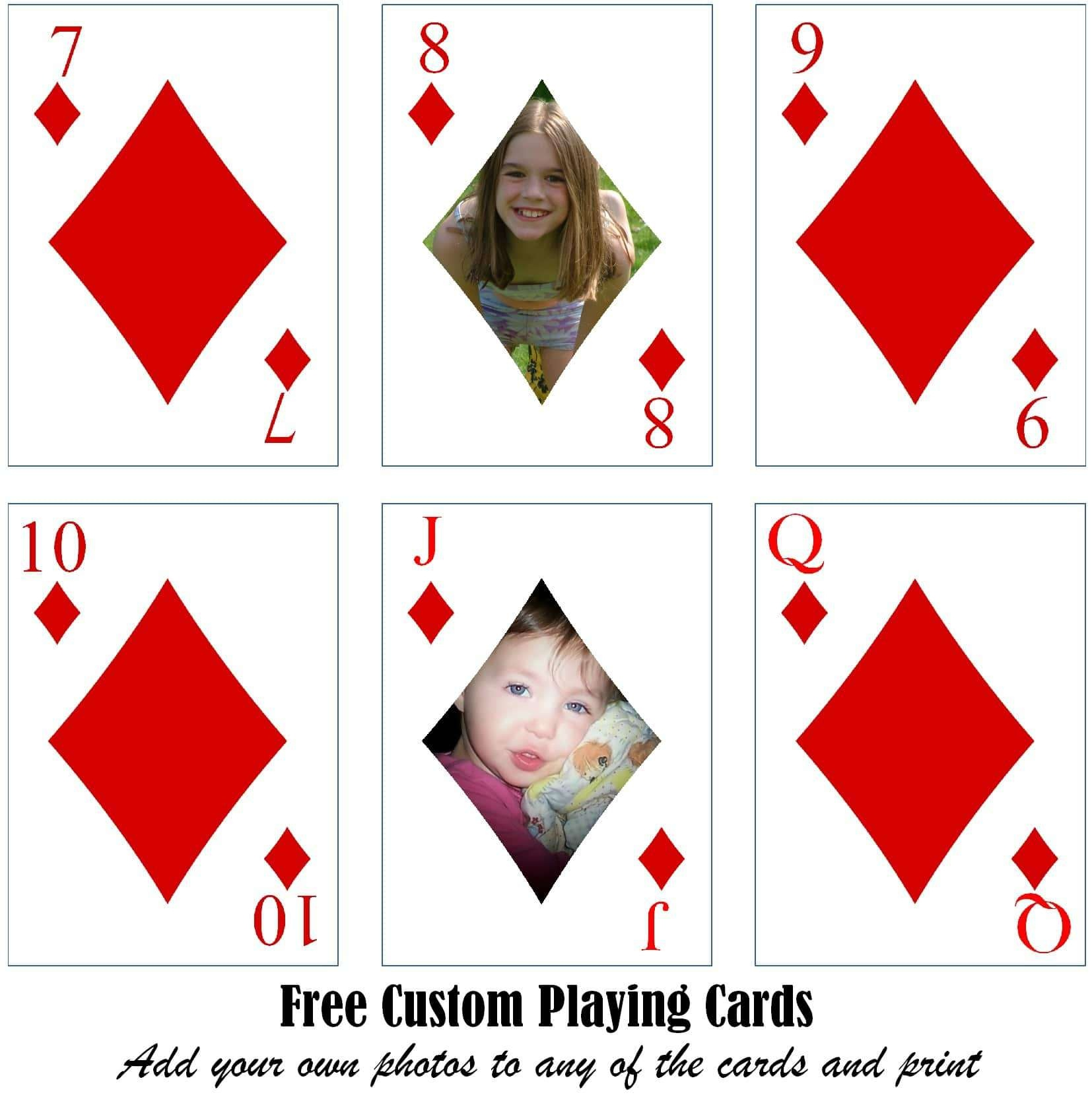 Free Printable Custom Playing Cards | Add Your Photo And/or Text - Free Printable Deck Of Cards