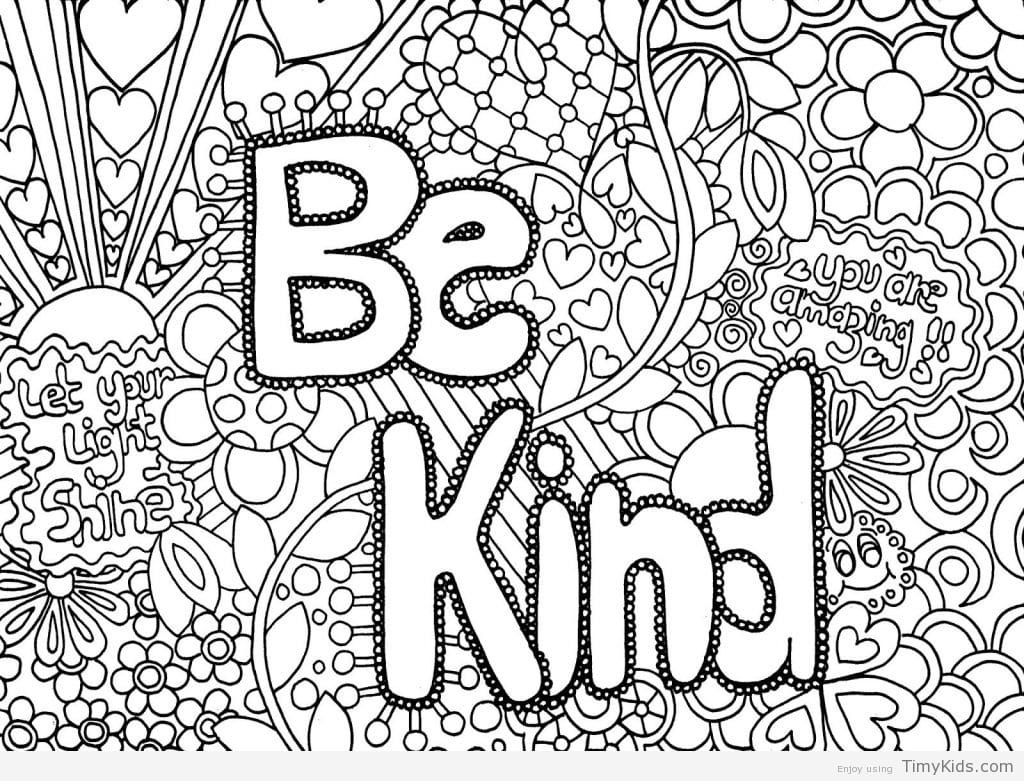 Free Printable Cute Coloring Pages For Girls - Quotes That Connect - Free Printable Coloring Sheets