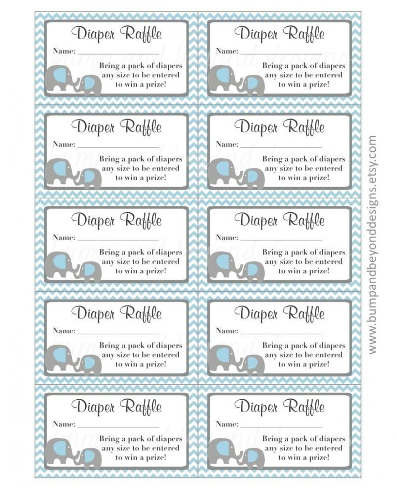 Free Printable Diaper Raffle Tickets For Baby Shower - Image - Free Printable Bridal Shower Raffle Tickets