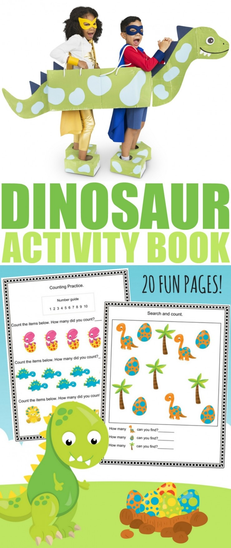 Free Printable Dinosaur Activity Book - Frugal Mom Eh! - Free Printable Books For Kindergarten