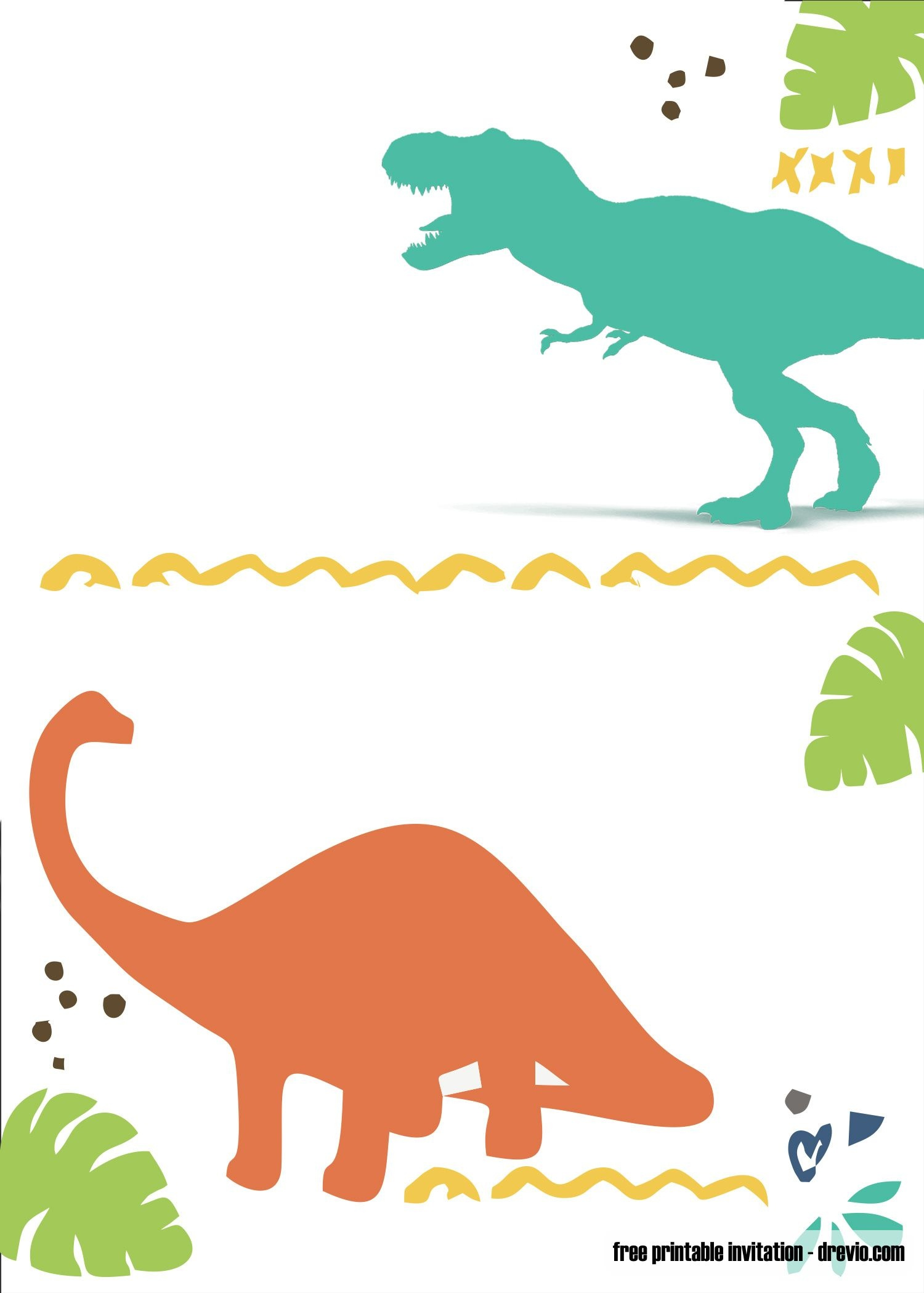 Free Printable Dinosaur Invitation | Free Printable Birthday - Free Printable Dinosaur Birthday Invitations