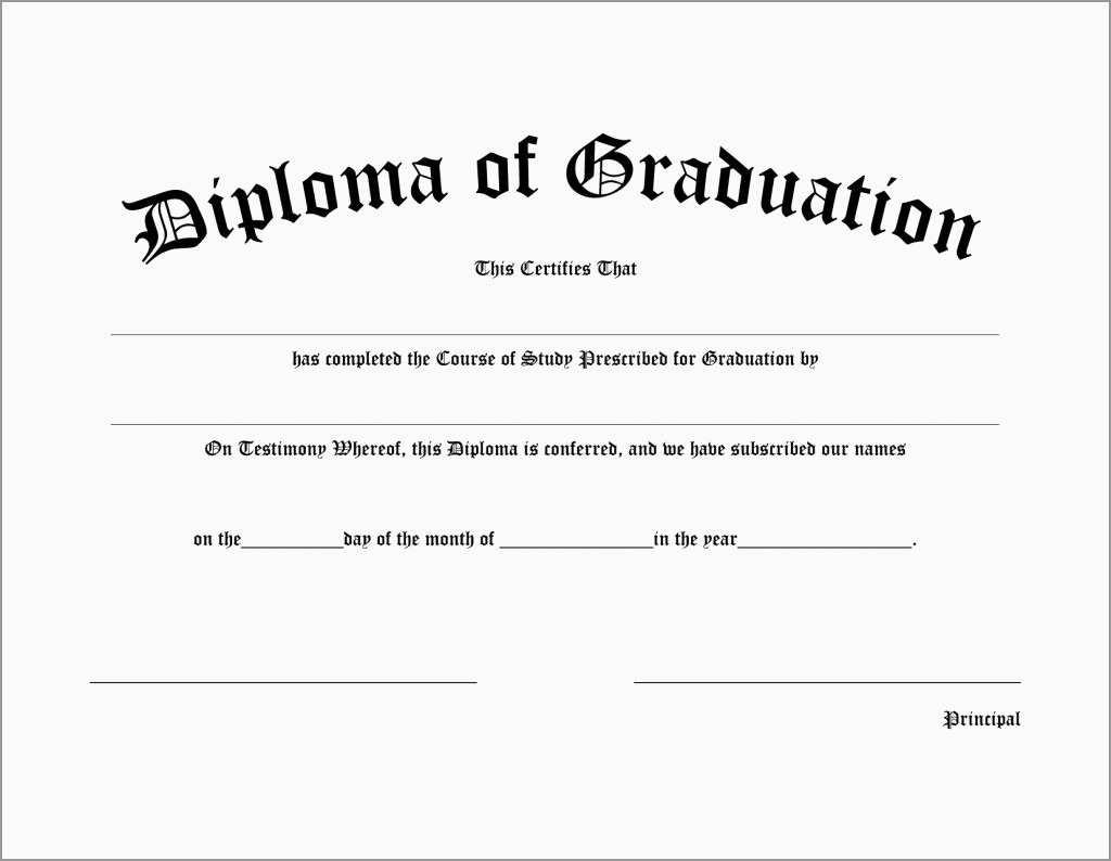 Free Printable Diploma Template Prettier Free Diploma Certificates - Free Printable Diploma Template