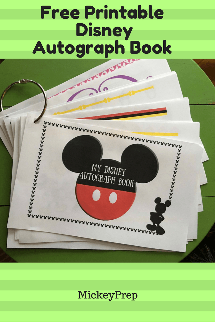 Free Printable Disney Autograph Book For An Upcoming Disney World - Free Printable Autograph Book For Kids