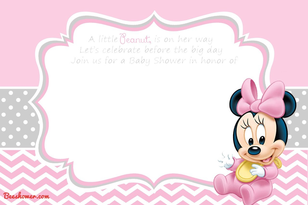 Free Printable Disney Baby Shower Invitations | Baby Shower | Free - Free Printable Baby Mickey Mouse Birthday Invitations