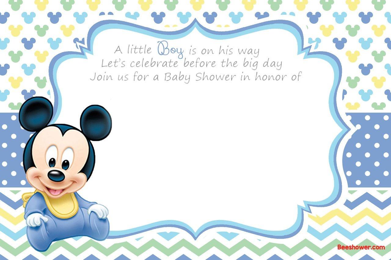 Free Printable Disney Baby Shower Invitations | Baby Shower | Free - Free Printable Baby Shower Cards Templates