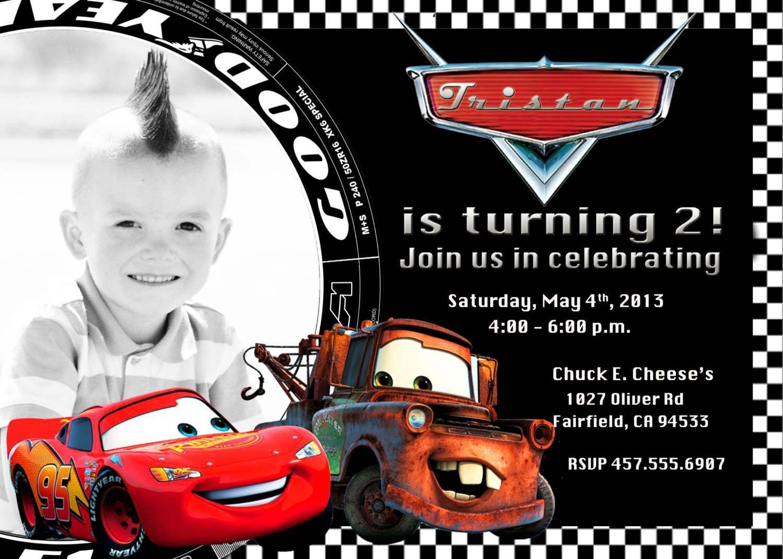 Free Printable Disney Cars 2 Birthday Invitations   Caz's 1St - Free Printable Disney Cars Birthday Party Invitations