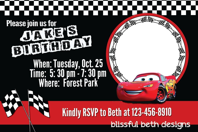 Free Printable Disney Cars Birthday Party Invitations Disney Cars - Free Printable Disney Cars Birthday Party Invitations