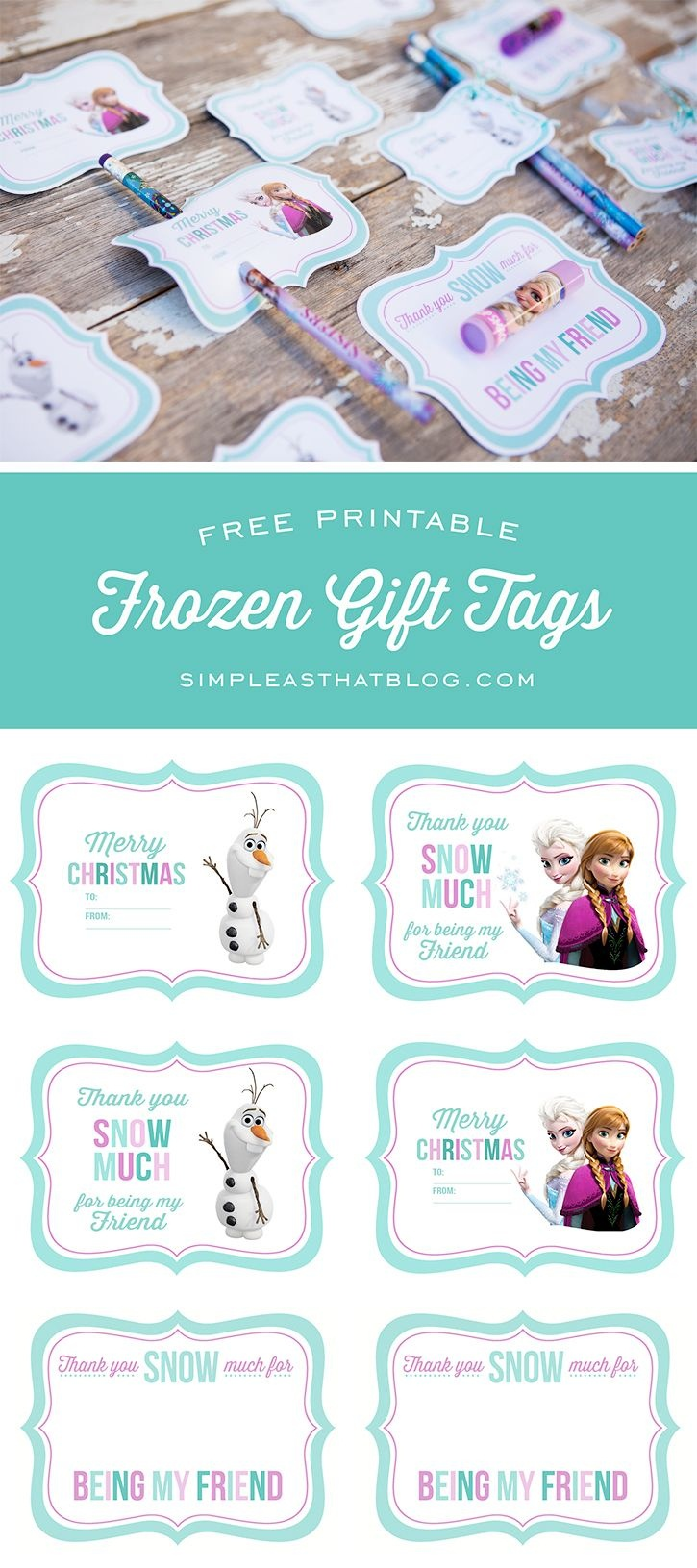 Free Printable Disney Frozen Gift Tags | Simple As That Printables - Free Printable Gift Bag Tags