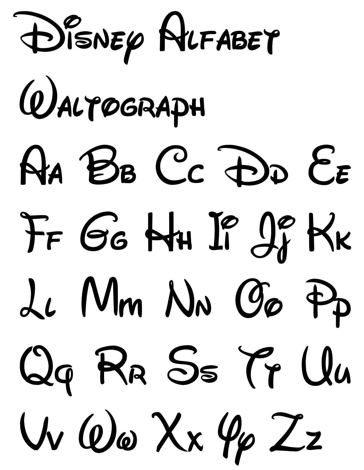 Free Printable Disney Letter Stencils | Calligraphy In 2019 | Disney - Free Printable Calligraphy Letter Stencils