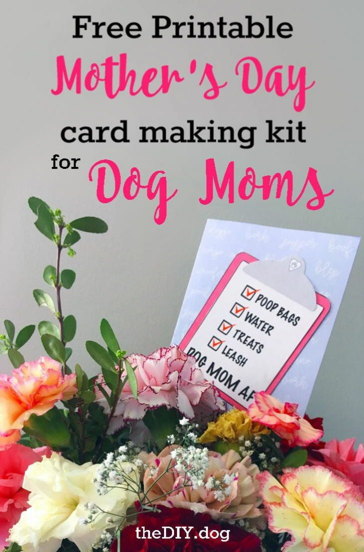 Free Printable Mothers Day Card From Dog