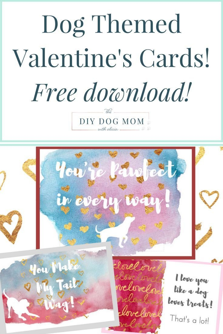 Free Printable Dog Themed Valentine's Day Cards | Dog Valentine's - Free Printable Valentines Day Cards For Mom And Dad