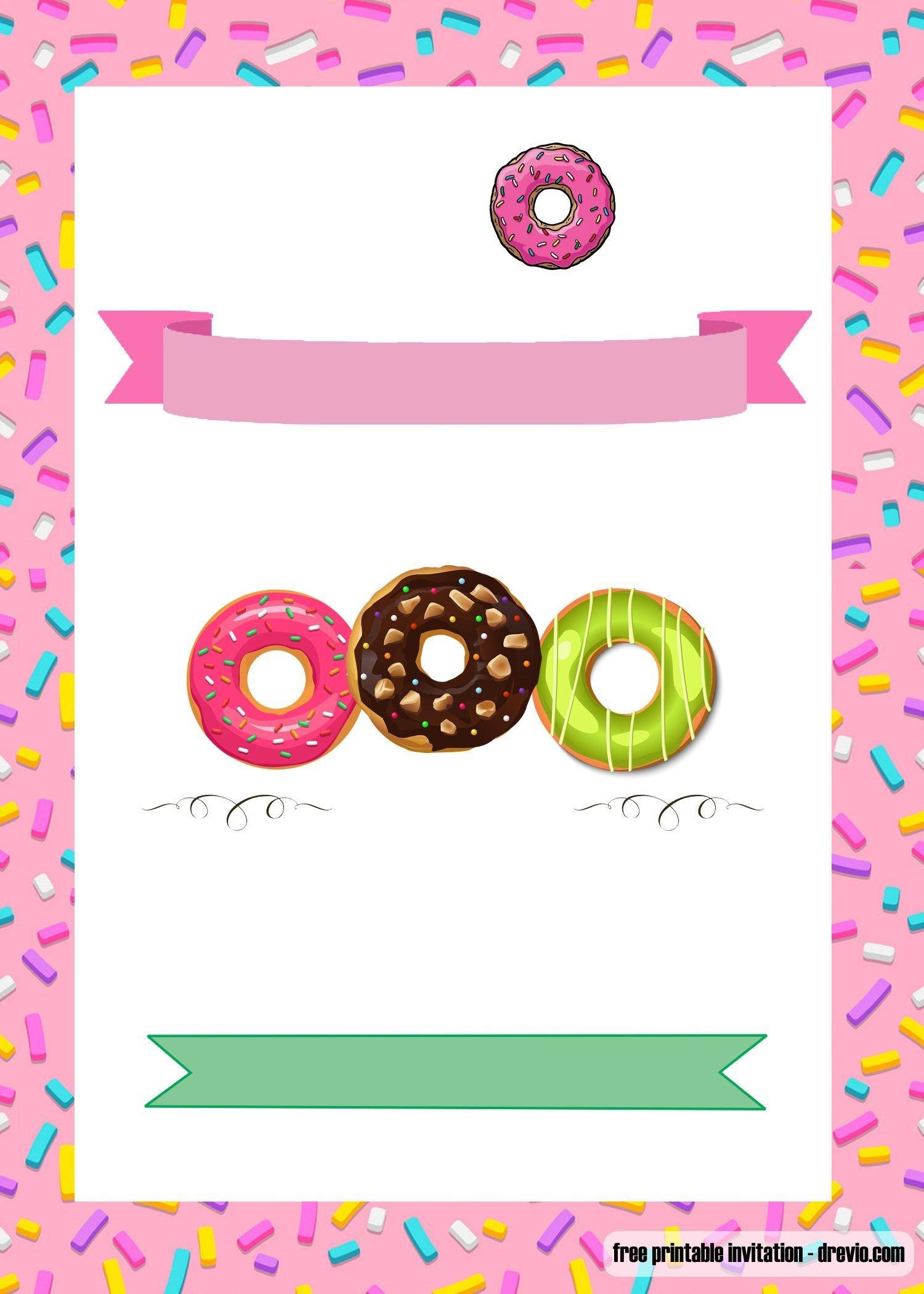 Free Printable Donuts Invitation | Free Printable Birthday - Printable Invitations Free No Download