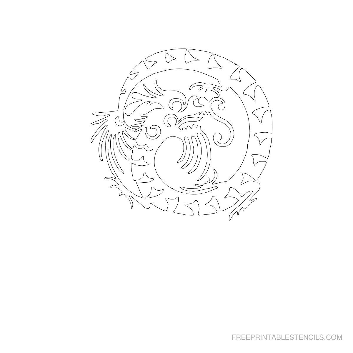 Free Printable Dragon Stencil F | Crafts To Try | Stencils - Free Printable Dragon Stencils