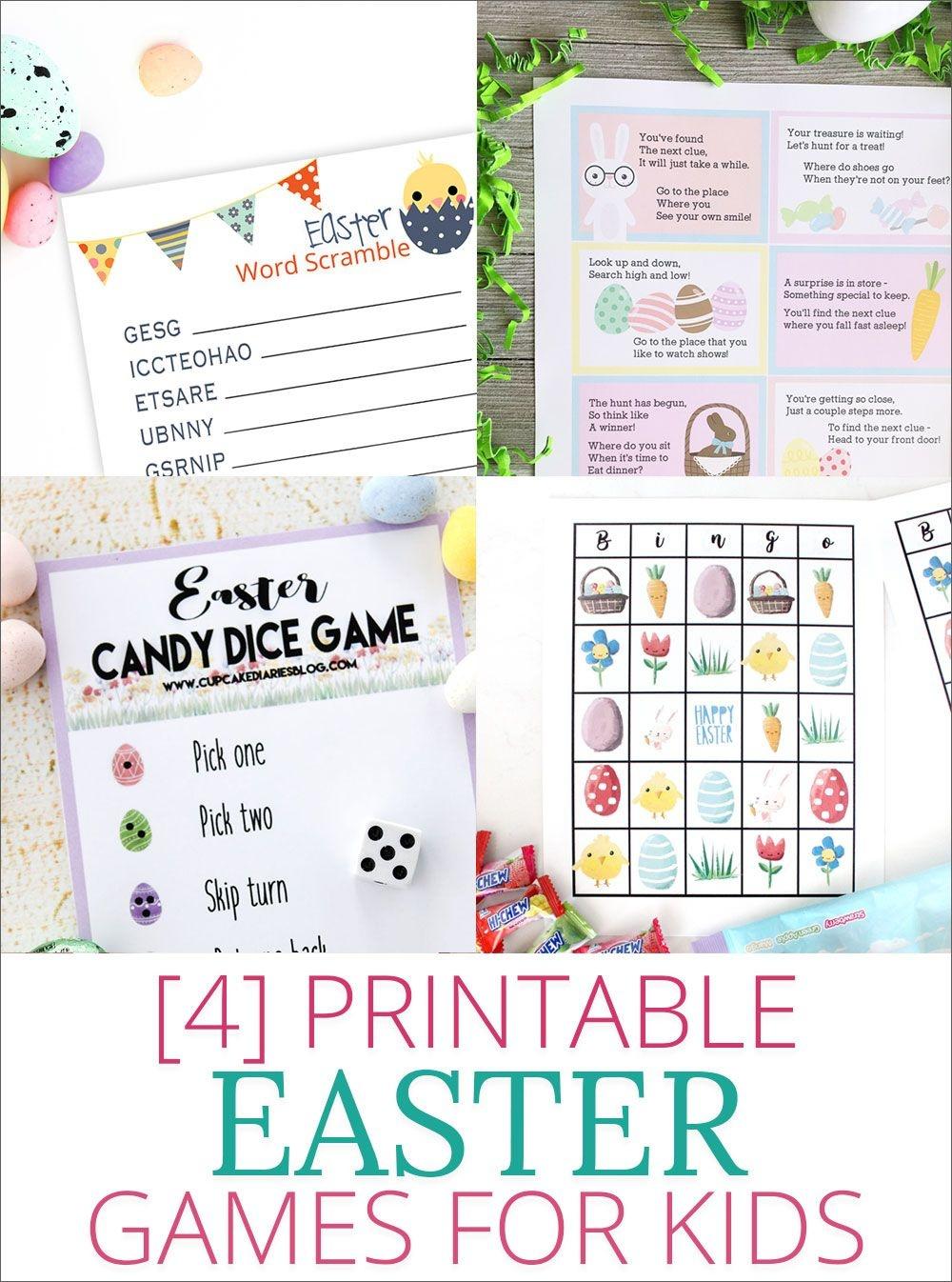 Free Printable Easter Bingo   For The Grandkiddies   Easter Games - Easter Games For Adults Printable Free