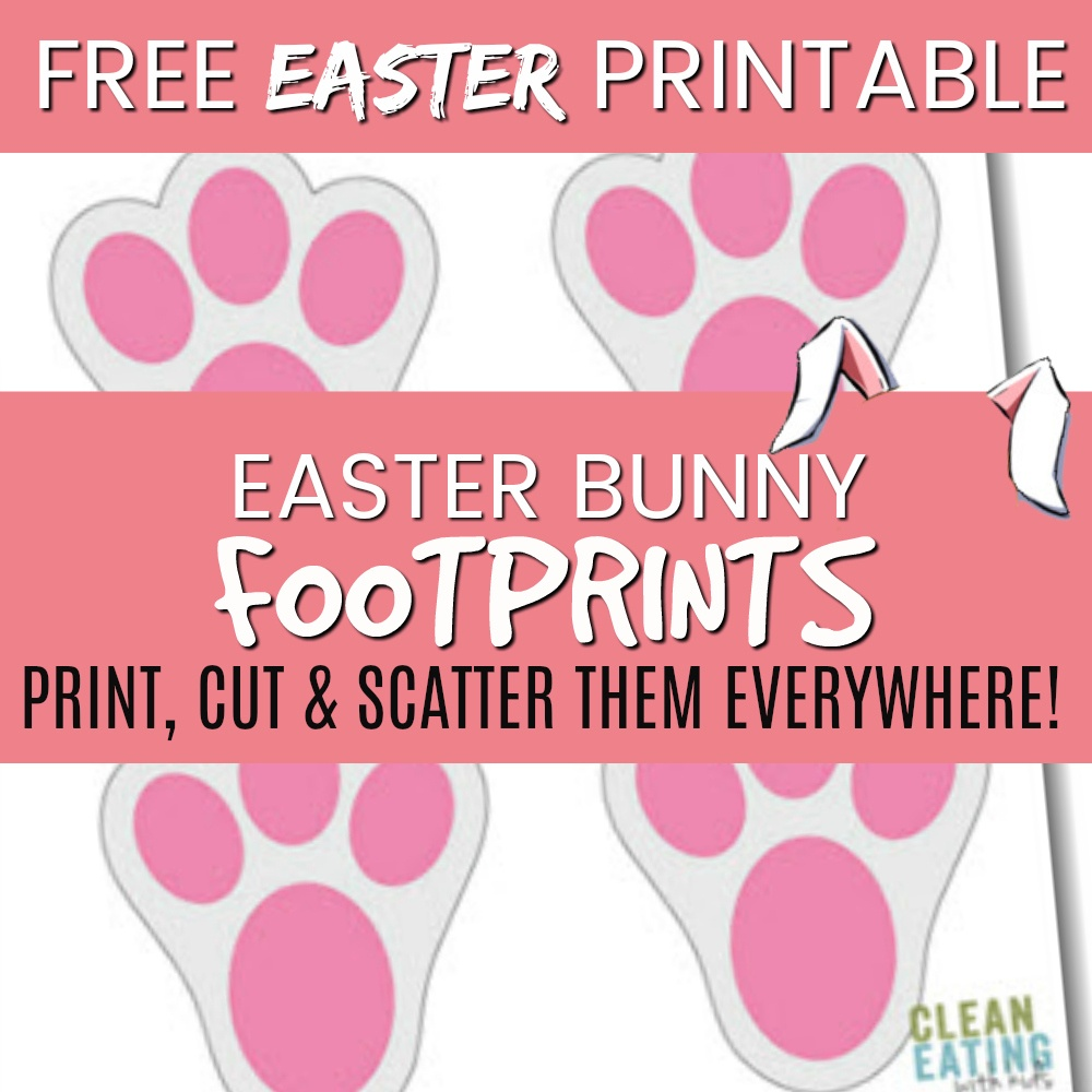 Free Printable: Easter Bunny Footprints - Clean Eating With Kids - Free Printable Bunny Pictures