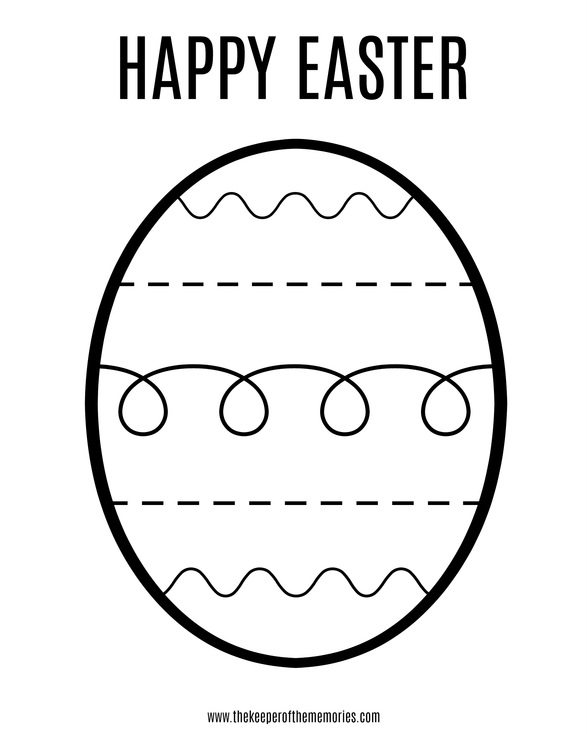 Free Printable Easter Coloring Sheet For Little Kids - The Keeper Of - Free Printable Easter Coloring Pages For Toddlers