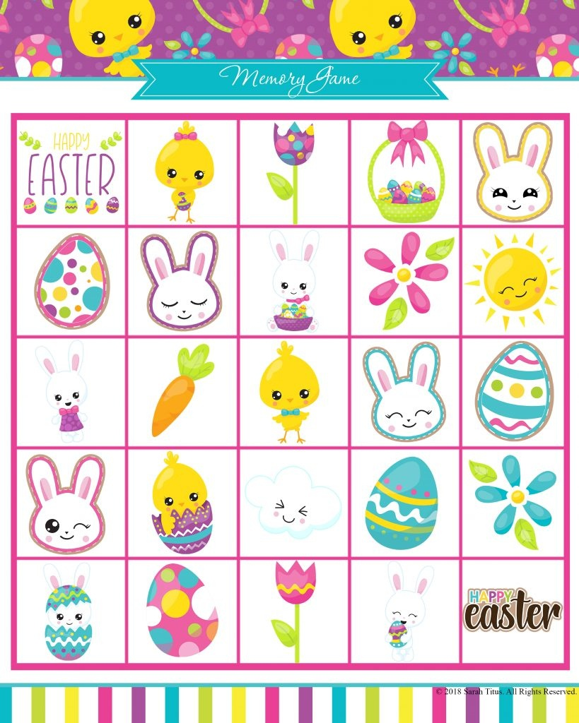 Free Printable Easter Games Your Family Will Love - Sarah Titus - Easter Games For Adults Printable Free