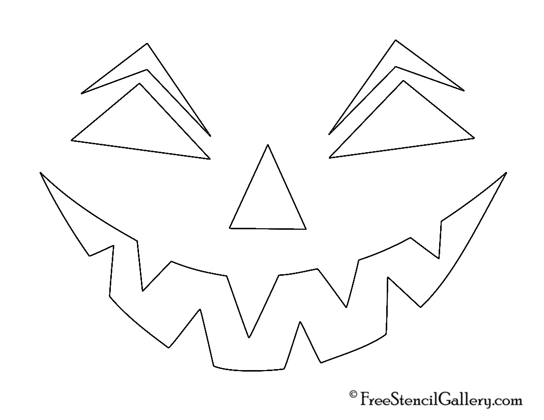 Free Printable Easy Funny Jack O Lantern Face Stencils Patterns - Jack O Lantern Patterns Free Printable