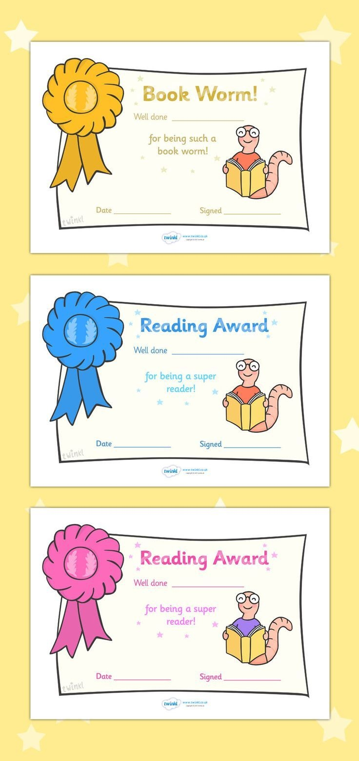 Free Printable Editable Reading Award Certificates … | First Grade - Best Costume Certificate Printable Free
