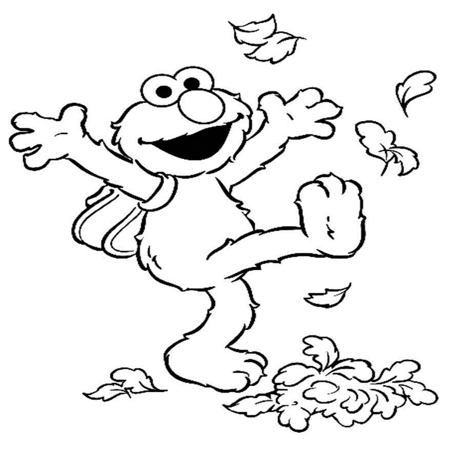 Free Printable Elmo Coloring Pages #5412 Fall Toddler Coloring Pages - Elmo Color Pages Free Printable
