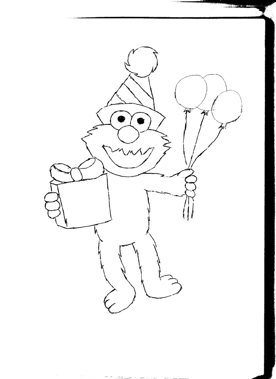 Free Printable Elmo Coloring Pages For Kids - Elmo Color Pages Free Printable