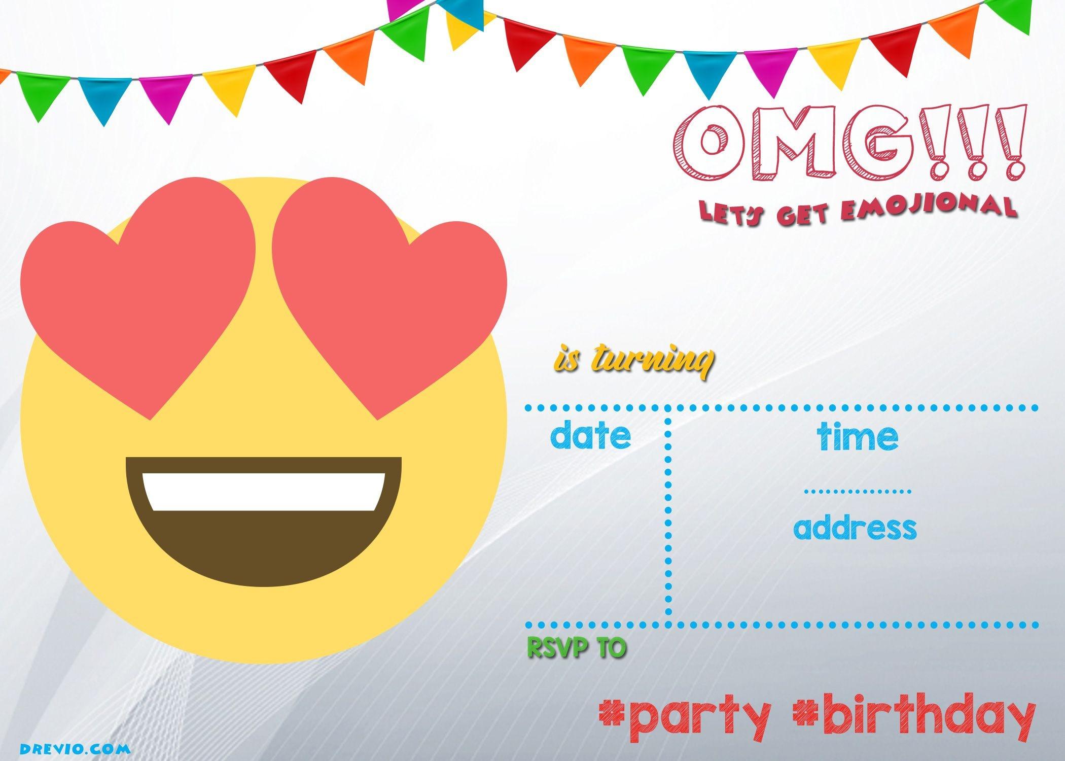 Free Printable Emoji Invitation | Free Printable Birthday - Emoji Invitations Printable Free