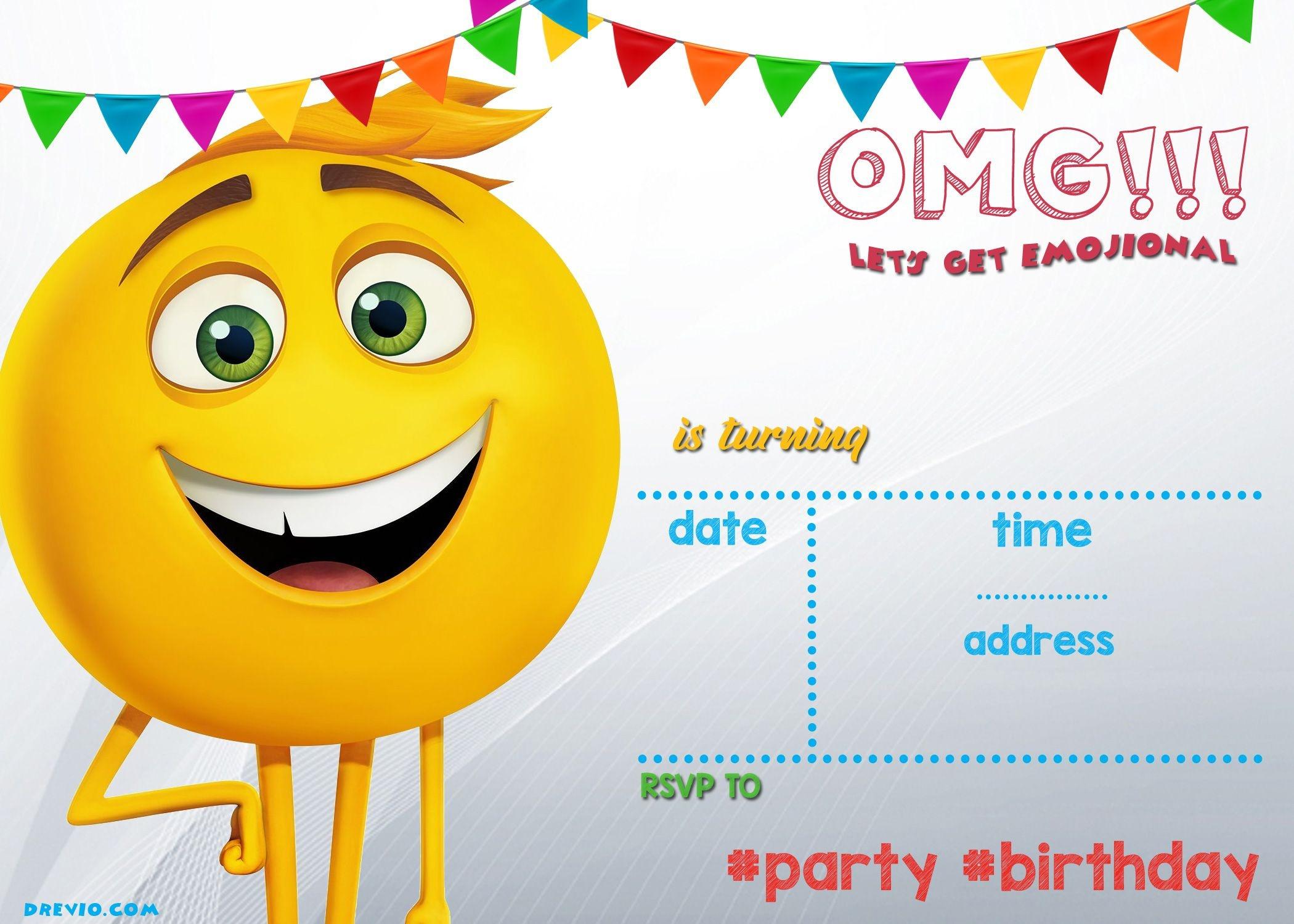 Free Printable Emoji Invitation Template | Blake | Emoji Invitations - Emoji Invitations Printable Free
