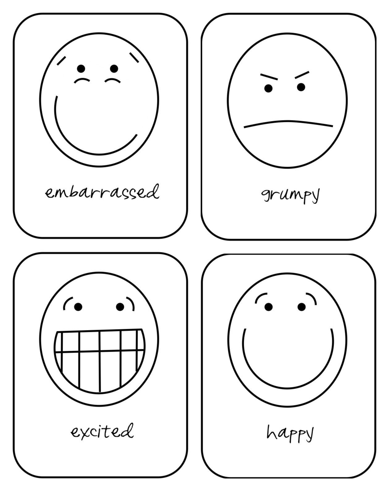 Free Printable Emotion Flash Cards For Your Toddler | Hopes And - Free Printable Pictures Of Emotions
