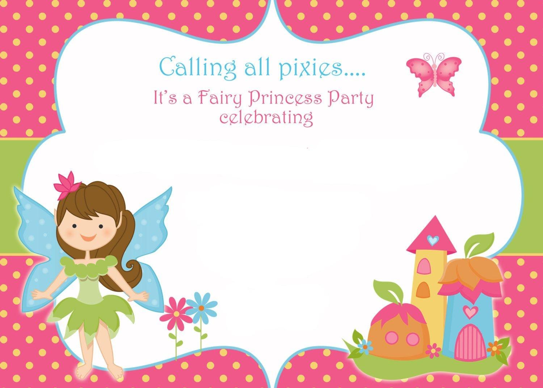 Free Printable Fairy Birthday Invitation | Free Printable - Free Printable Event Invitations