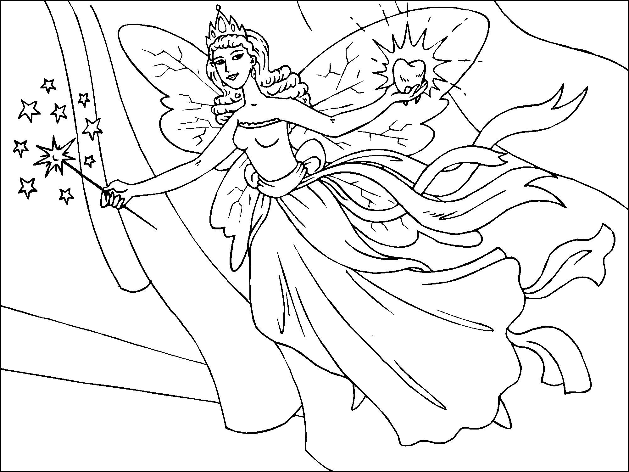 Free Printable Fairy Coloring Pages For Kids   Everything   Fairy - Free Printable Fairy Coloring Pictures