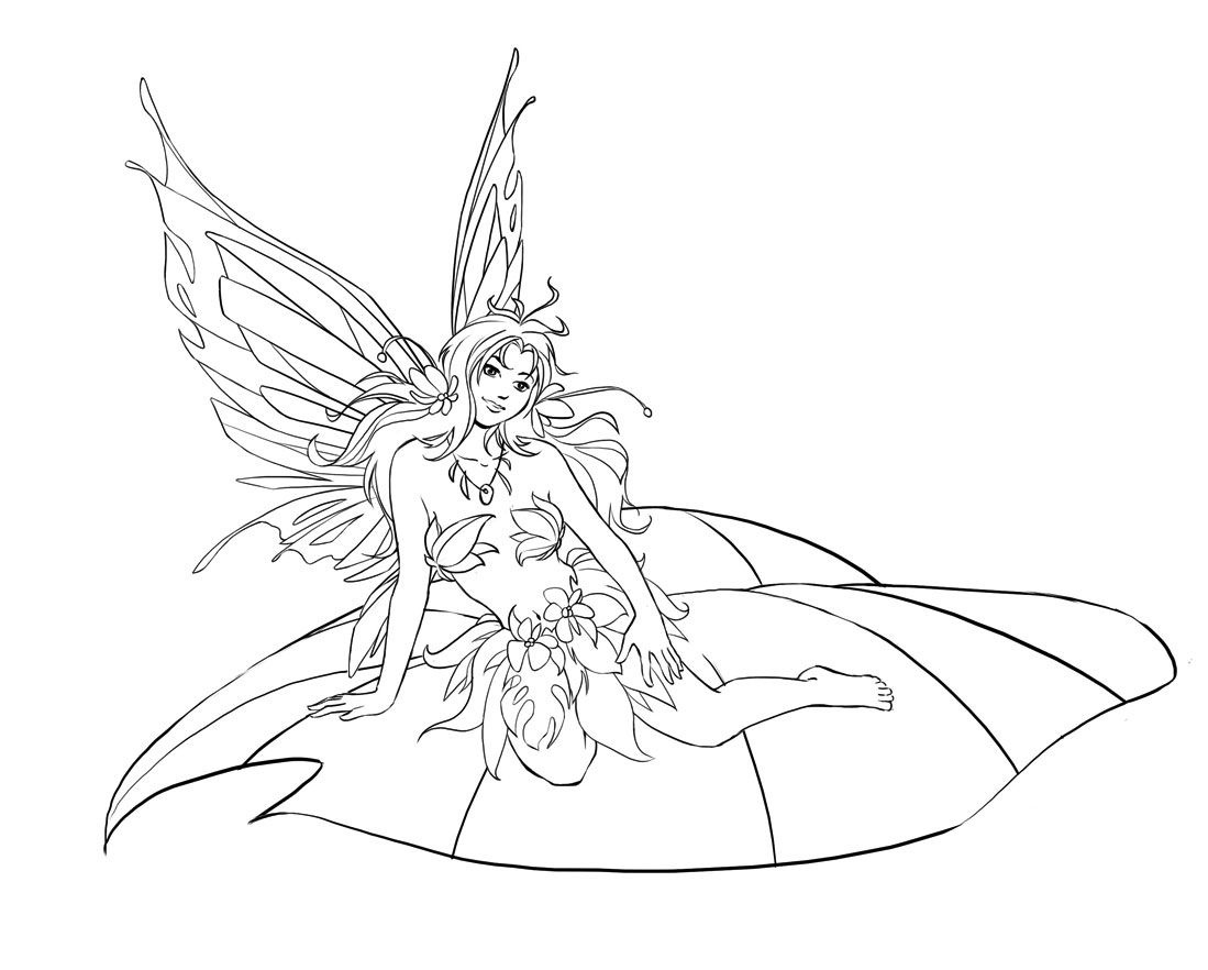 Free Printable Fairy Coloring Pages For Kids   Fairies   Fairy - Free Printable Fairy Coloring Pictures