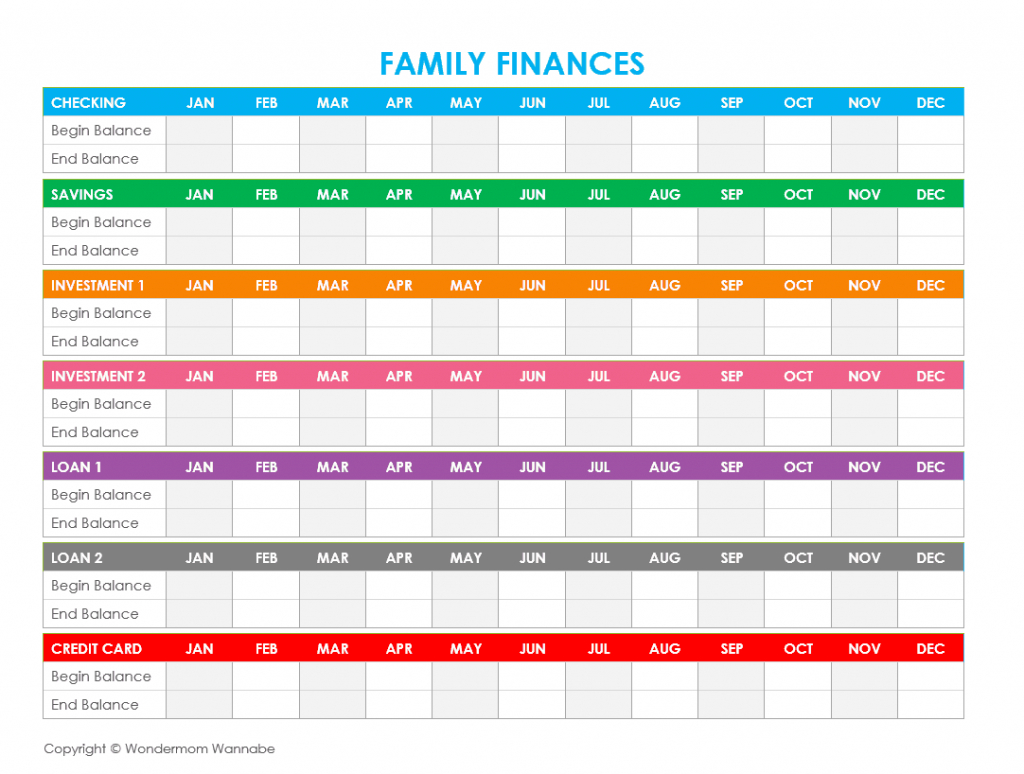 Free Printable Family Budget Worksheets - Household Budget Template Free Printable