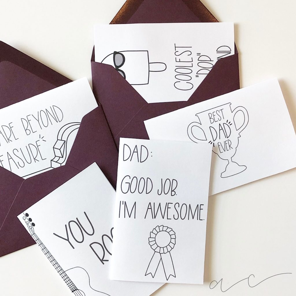 Free Printable! - Father's Day Cards | All Things Thrifty - Hallmark Free Printable Fathers Day Cards