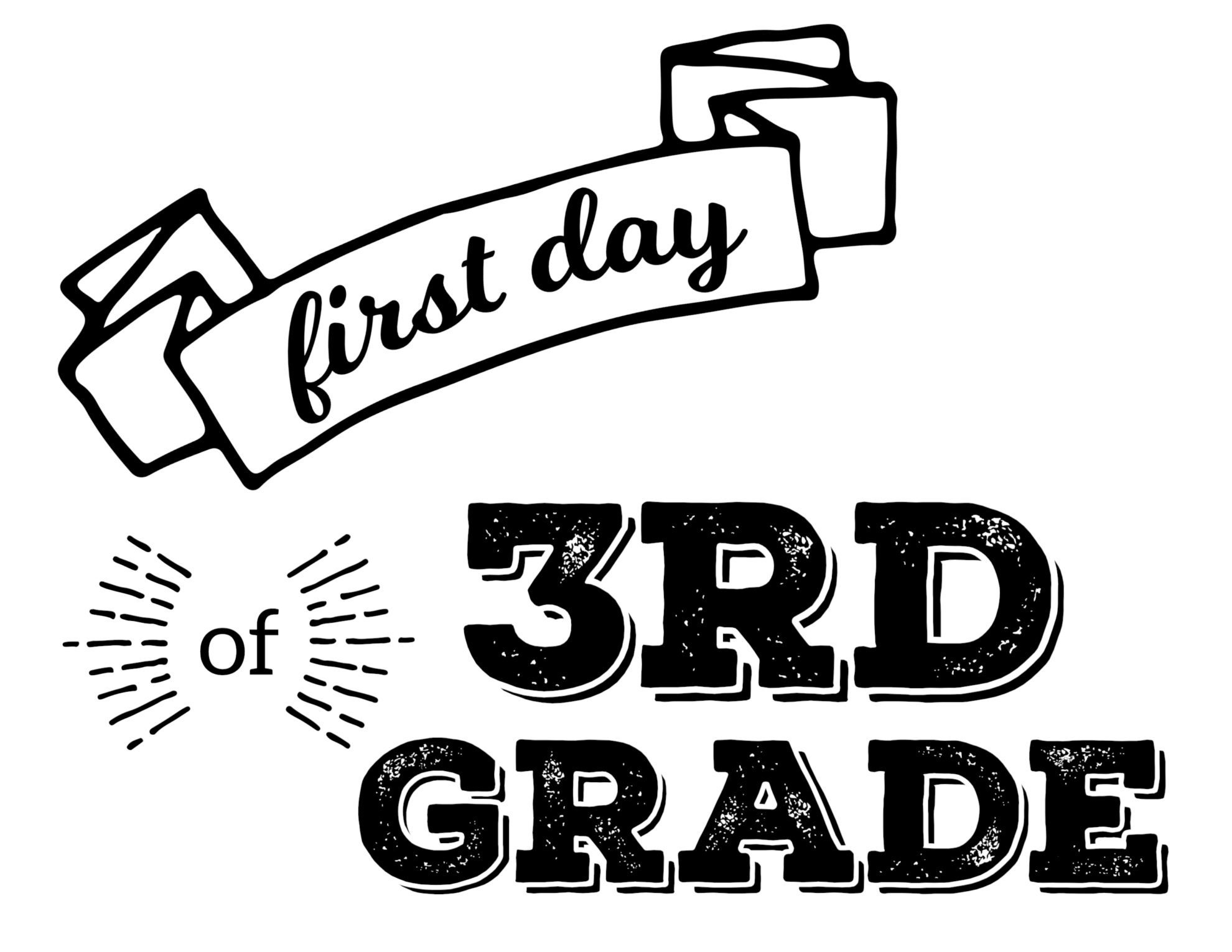 Free Printable First Day Of School Signs - Paper Trail Design - First Day Of 3Rd Grade Free Printable