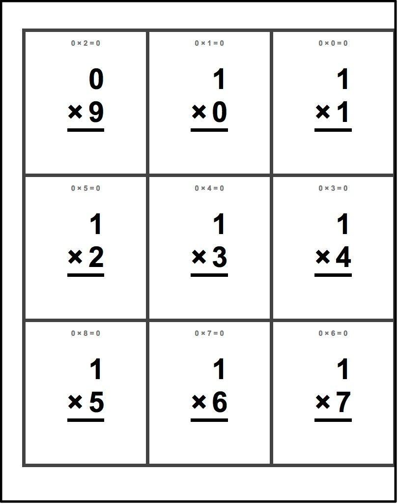Free Printable Flash Cards For Multiplication Math Facts. This Set - Flash Cards Multiplication Free Printable
