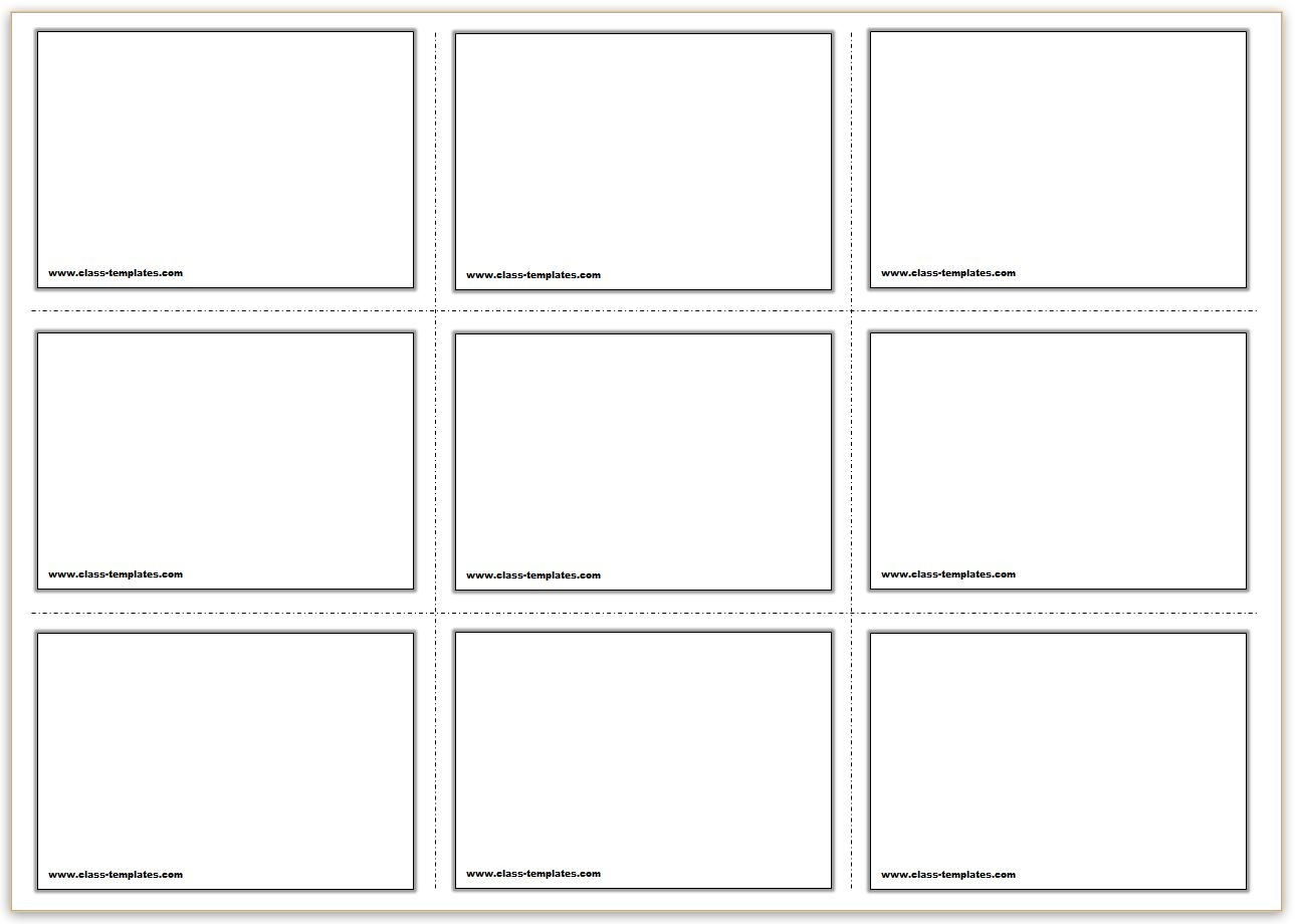 Free Printable Flash Cards Template - Free Printable Card Templates
