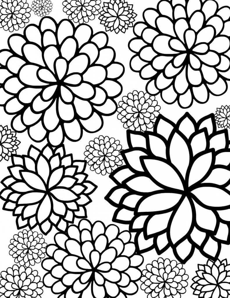 Free Printable Flower Coloring Pages For Kids - Best Coloring Pages - Free Printable Coloring Sheets