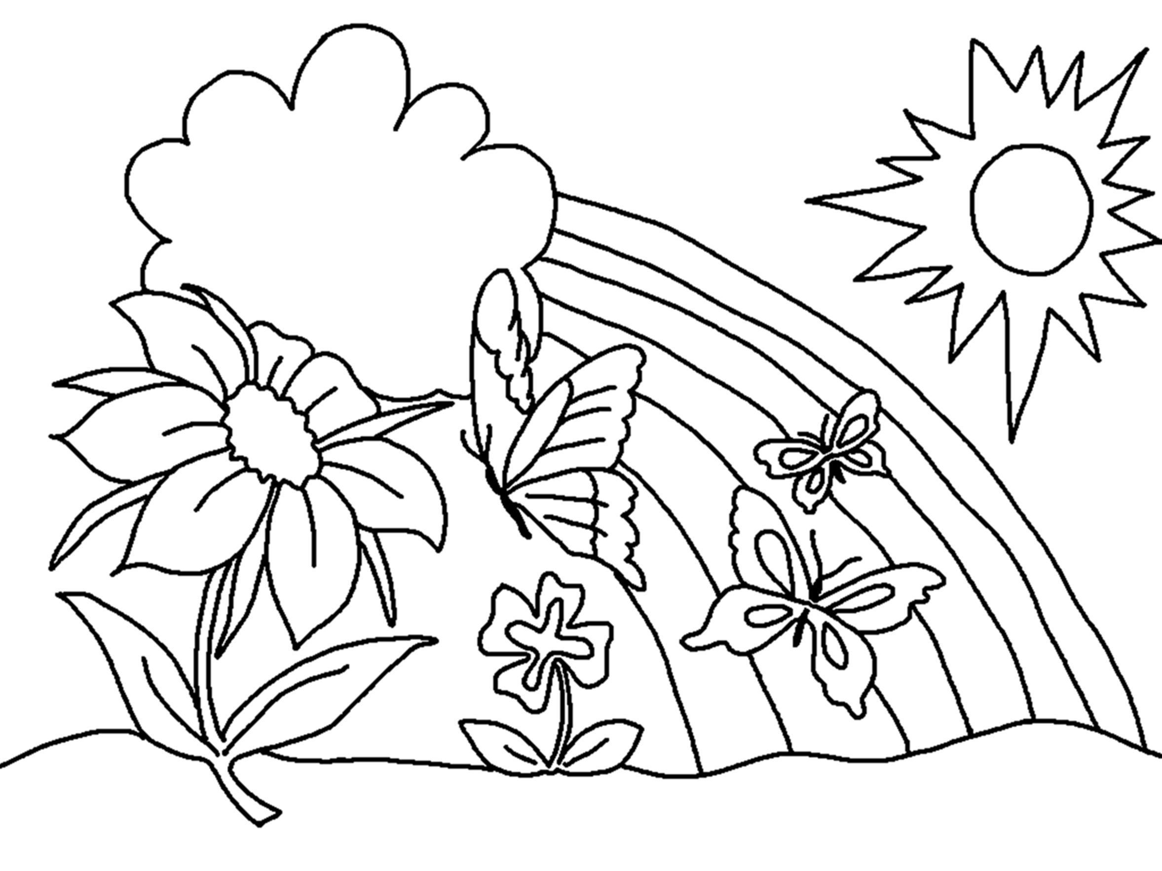 Free Printable Flower Coloring Pages For Kids Best | Coloring_Pages - Free Printable Flower Coloring Pages For Adults