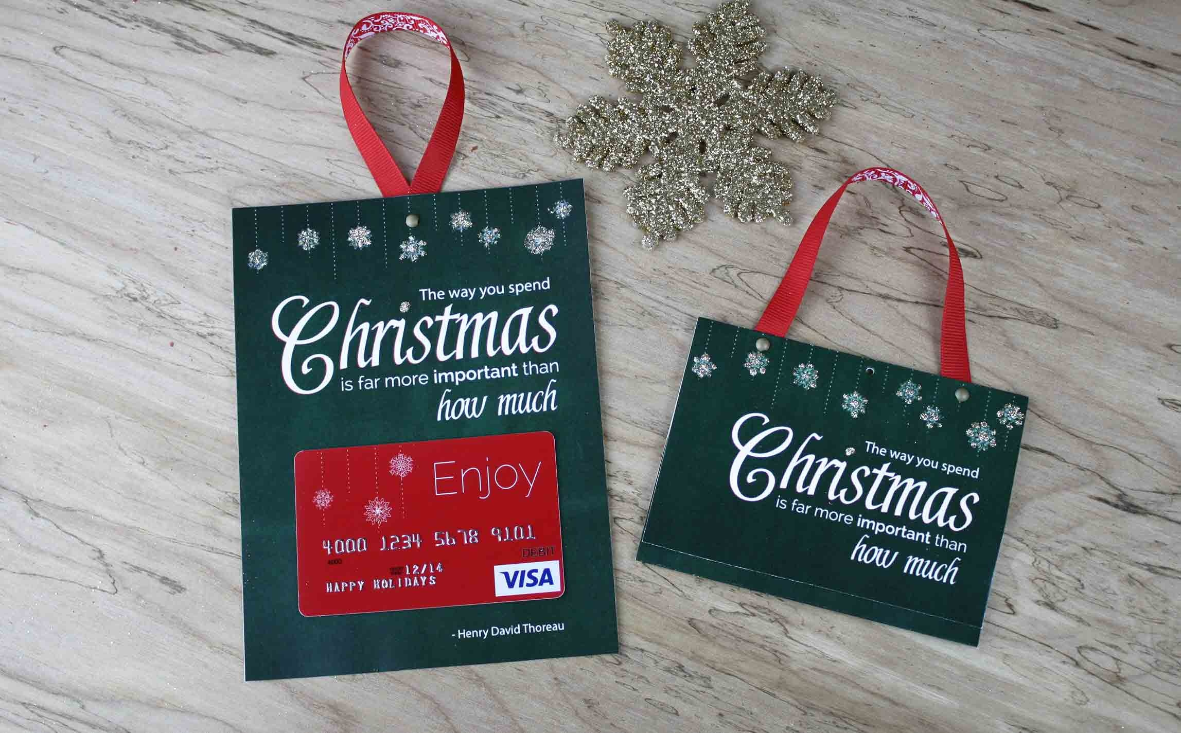 Free Printable| Gift Card Holder Spend Christmas - Create Your Own Free Printable Christmas Cards