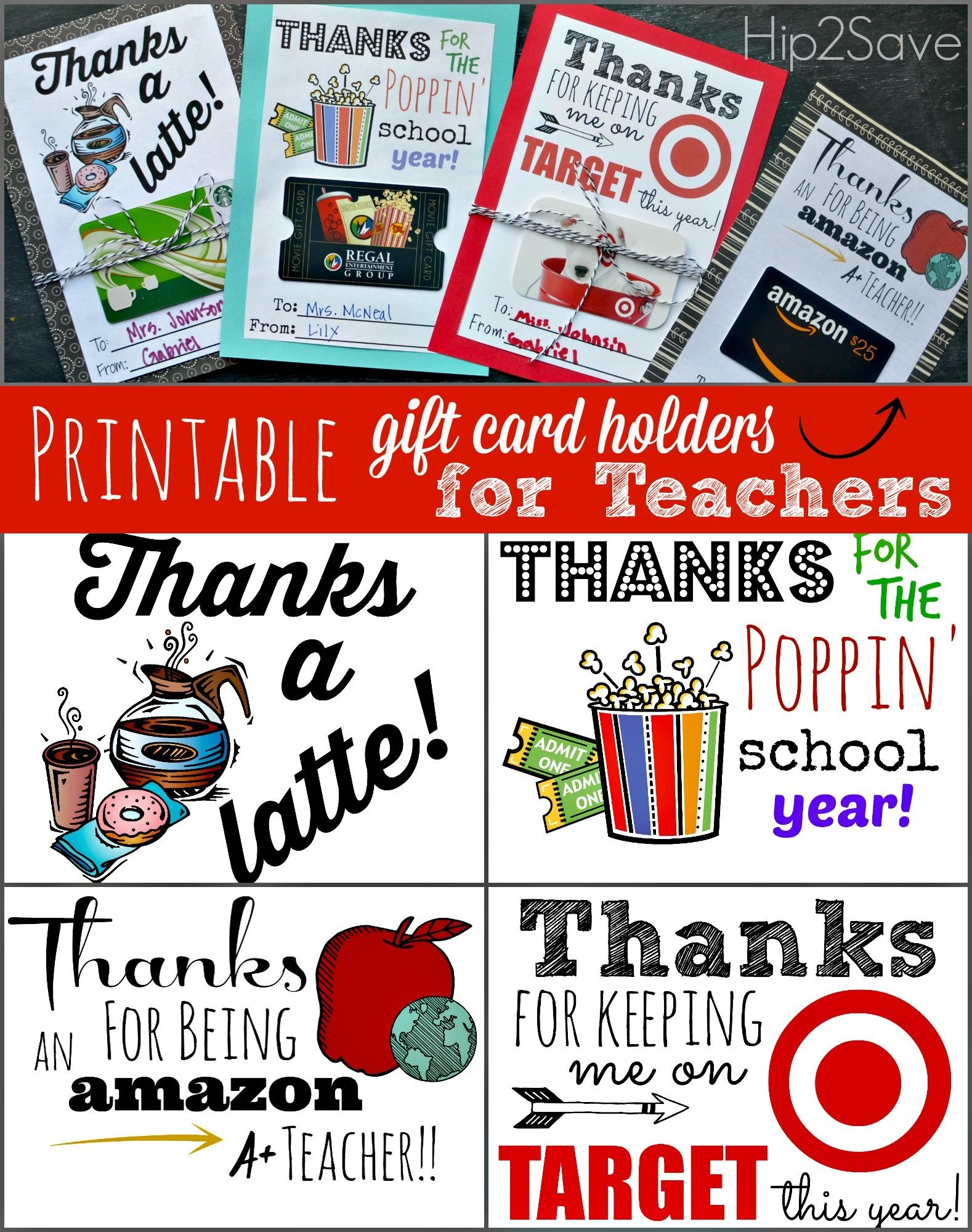 Free Printable Gift Card Holders For Teacher Gifts | Printables - Free Teacher Appreciation Week Printable Cards